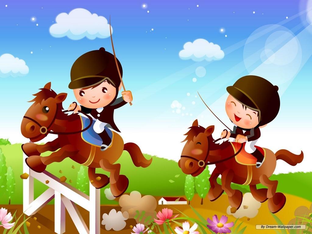 kids horse riding - Kids Cartoons Free