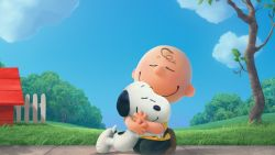 The peanuts snoopy and charlie
